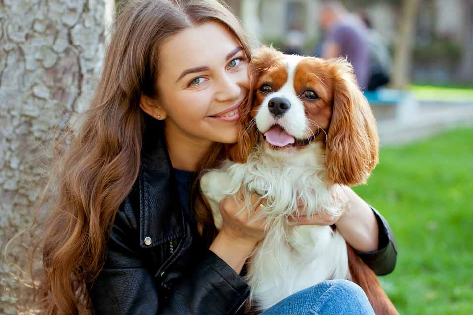 Picture of a girl and a Cavalier